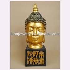 Oriental Home Decor Cheap Oriental Home Decoration Polyresin Golden Buddha Head For Home