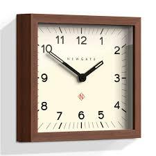 Minimalist Alarm Clock by Newgate Mr Robinson Wall Clock Black Minimalist Square Clock