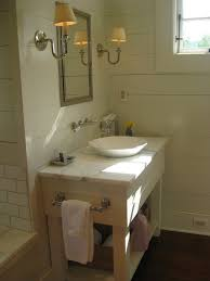 bathroom vanity with bowl sink transitional bathroom