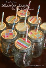 Mason Jar Party Favors Decorative Mason Jar Lids With Cute Straws