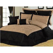 Gold And Black Comforter Set Gold Bedding Queen Quilted Bedspread Modern 7 Pieces Jacquard