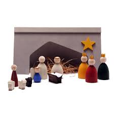 wooden nativity set wooden christmas nativity set 12 pieces made in sweden