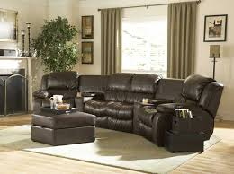 Black Leather Reclining Sectional Sofa Leather Sectional Sofa With Recliner 2 4 Amazing Images Concept