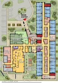 drug rehabilitation center floor plan inpatient rehabilitation unit floor plans google search project