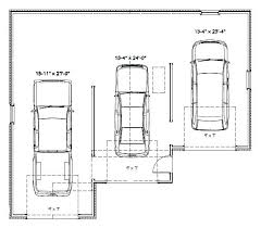 size of a three car garage three car garage size 3 car garage dimensions intended for 3 car