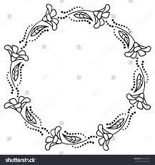 black white frame outline decorative stock vector 518193793