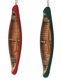 savings on lakeside canoe ornaments 2 set