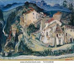 modele cuisine cagne view cagnes by chaim soutine 192425 stock illustration 747216838