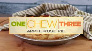 the chew com recipes thanksgiving the chew apple rose pie youtube