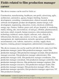 Production Resume Examples by Top 8 Film Production Manager Resume Samples