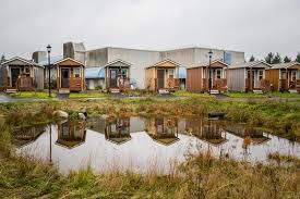 this city is using tiny house villages to fight homelessness