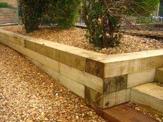 How To Build A Timber Retaining Wall Great Look Timber Steps - Timber retaining wall design
