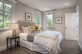 Traditional Bedroom Design - coral and gray bedding look san francisco traditional bedroom