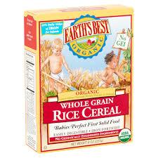 earth u0027s best organic whole grain rice cereal 8 oz walmart com