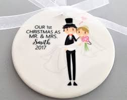 bride groom ornament etsy