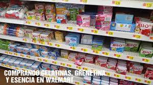 comprando en walmart grenetina esencias tinta comestible color