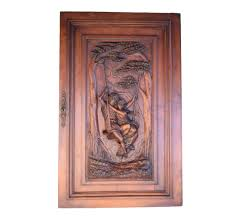 carved wood cabinet doors antique french large hand carved wood cabinet door after le