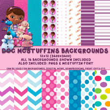doc mcstuffins wrapping paper doc mcstuffins digital paper by invitesbydevin on etsy doc