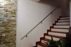 corrimano per esterno corrimano inox acciaio satinato a parete muro completo di staffe e
