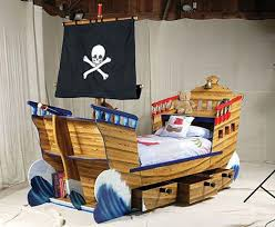 bedroom cool boys pirate bedroom idea with brown wooden ship Boys Bed Frame