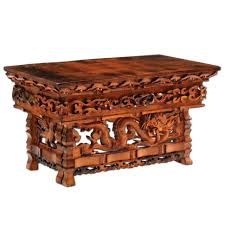 hand carved coffee table coffee table hand carved dragon altar table dharmacrafts stunning