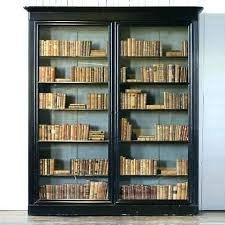 Cherry Bookcase With Glass Doors Bookcase Glass Doors Cherry Bookcases With Glass Doors White