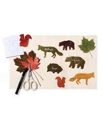 leaf animal place cards martha stewart