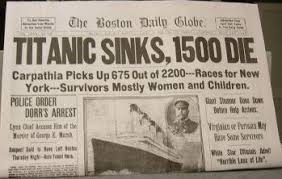 the sinking of the titanic 1912 the date the titanic sank april 15 1912