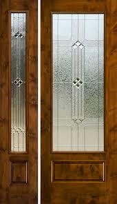 full glass entry door rustic glass doors full lite entry door knotty alder 1 lite door