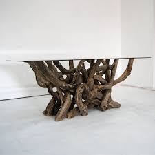 rectangular driftwood dining table by doris brixham