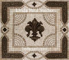 kitchen backsplash metal medallions fleur de lis backsplash tile mosaic medallion mosaics mural
