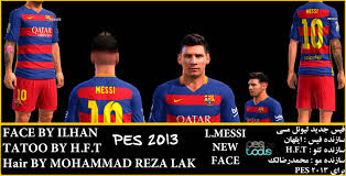 lionel messi new hair by mohammad reza lak pes patch