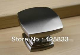 Kitchen Cabinet Hardware Brushed Nickel by 8pcs Single Square Brushed Nickel Cabinet Handles Kitchen Knobs