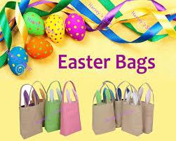 easter bags wholesale 30pcs lot hot easter bunny ears bag jute cloth material
