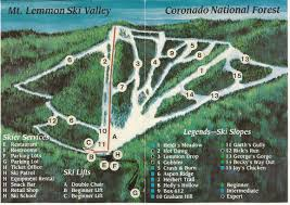 Mt Lemmon Hiking Trails Map Mt Lemmon Ski Valley Skimap Org