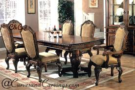 Carved Dining Table And Chairs Carvings Signature Collection Dining Table Set C C