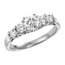 5 engagement ring 14k white gold 1cttw 5 engagement ring