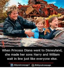 Disneyland Memes - when princess diana went to disneyland she made her sons harry and