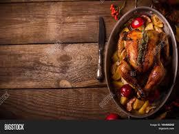 served roasted stuffed thanksgiving image photo bigstock