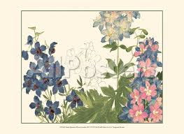small japanese flower garden iii prints by konan tanigami at