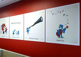 Best Company Mission And Values Graphics Images On Pinterest - Wall graphic designs