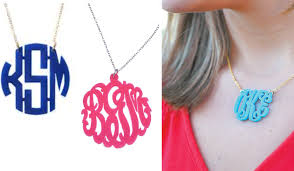 Monogrammed Necklace Maryland Pink And Green Bellevue Newport Monogram Necklace Giveaway