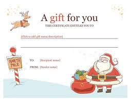 printable christmas gift vouchers gift voucher template powerpoint 25 best gift certificate template