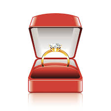wedding ring in a box engagement ring box clip vector images illustrations istock