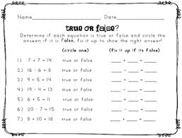 true or false equations worksheet by inspired to the core tpt