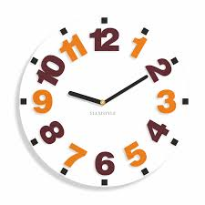 Silent Wall Clock Modern Wall Clock For Kids Numbers 6 Variants Available Silent No
