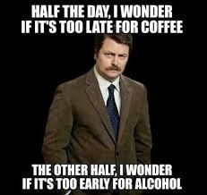 Swanson Meme - half the day funny meme