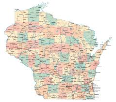 Map Of Europe With Major Cities by Large Administrative Map Of Wisconsin State With Roads Highways