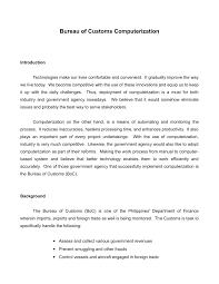 bureau of customs computerization