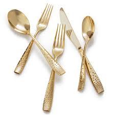 amazon com nambe 5 piece dazzle gold place setting flatware sets